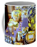 Lemons And Blue Coffee Mug