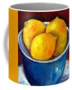 Lemons In A Blue Bowl Grace Venditti Montreal Art Coffee Mug