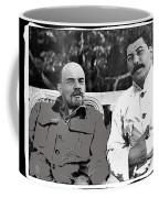 Lenin And Stalin Circa 1923 Color And Drawing Added 2016    Coffee Mug
