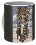 Leopard Boots With Ankle Straps Coffee Mug