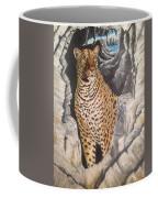 Leopard On The Rocks Coffee Mug