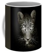 Leopard Portrait In The Dark Coffee Mug