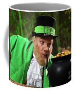 Leprechaun With Pot Of Gold Coffee Mug