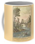 Les Poissons Et Le Cormoran (the Fish And Thecormorant) Coffee Mug