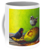 Lesser Antillean Bullfinches And Mango Coffee Mug