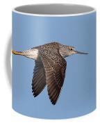 Lesser Yellowlegs In Flight Coffee Mug
