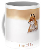 Let It Snow 2 - New Years Card Red Fox In The Snow Coffee Mug