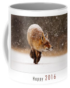 Let It Snow 4 - New Years Card Red Fox In The Snow Coffee Mug