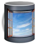 Let The Blue Sky In Coffee Mug by Carlos Caetano