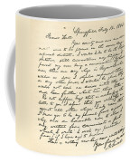 Letter From Abraham Lincoln To Alden Coffee Mug