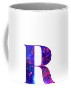 Letter R Galaxy In White Background Coffee Mug