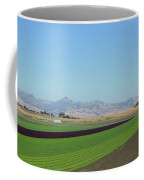 Lettuce And Mountains With Bird Coffee Mug