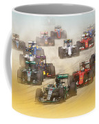 Lewis Hamilton Leads The Pack Coffee Mug