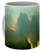 Li River At Dawn  Coffee Mug