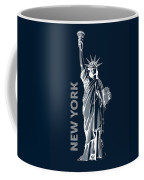 Liberty, New York, Popart Coffee Mug