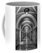 Library Of Congress Building Hallway Bw Coffee Mug