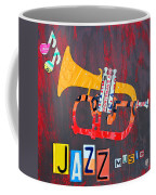 License Plate Art Jazz Series Number One Trumpet Coffee Mug