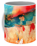 Life Eternal Red And Green Abstract Coffee Mug