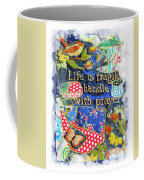 Life Is Fragile Patchwork Coffee Mug