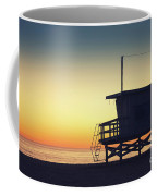 Lifeguard Tower At Sunset Coffee Mug