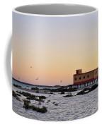Lifesavers Building And Birds In Fuzeta. Portugal Coffee Mug