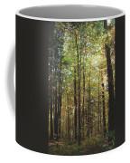 Light Among The Trees Vertical Coffee Mug