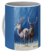 Light And Dark Stags Coffee Mug