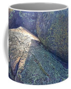 Light And Lichen On Eroded Basalt Coffee Mug