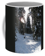 Light And Shadow On A Snowy Landscape Coffee Mug