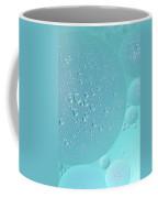 Light Blue Abstract Of Oil Droplet.  Coffee Mug