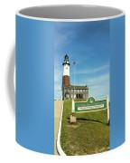 Light House At Montauk Point Coffee Mug