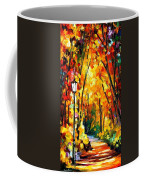 Light Of The Forest - Palette Knife Oil Painting On Canvas By Leonid Afremov Coffee Mug
