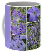 Light Purple Flowers Collage Coffee Mug