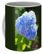 Light Through Blue Hydrangeas Coffee Mug