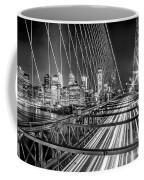 Light Trails Of Manhattan Coffee Mug
