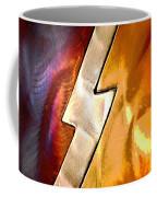Lightening Bolt Abstract Posterized Coffee Mug