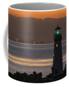 Lighthouse And Power Plant At Dawn Coffee Mug