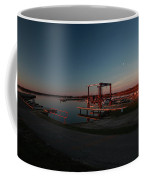 Lighthouse And Marina At Hecla In Manitoba Coffee Mug