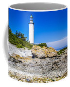 Lighthouse And Rocks Coffee Mug