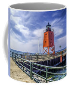 Lighthouse At Charlevoix South Pier  Coffee Mug