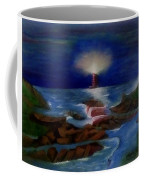 Lighthouse At Night Coffee Mug