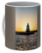 Lighthouse At Sunset Coffee Mug
