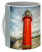 Lighthouse In South Haven Coffee Mug