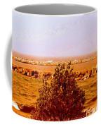 Lighthouse Manistique Retro Pano Coffee Mug