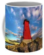 Lighthouse Manistique Sunset -5350 Coffee Mug