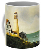 Lighthouse In Oil Coffee Mug