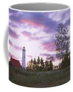 Lighthouse On A Landscape, Tawas Point Coffee Mug