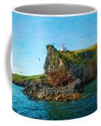 Lighthouse On Cliff Dunedin New Zealand Coffee Mug