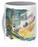 Lighthouse On The Hill Coffee Mug