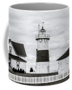 Lighthouse Point In Black And White #5 Coffee Mug